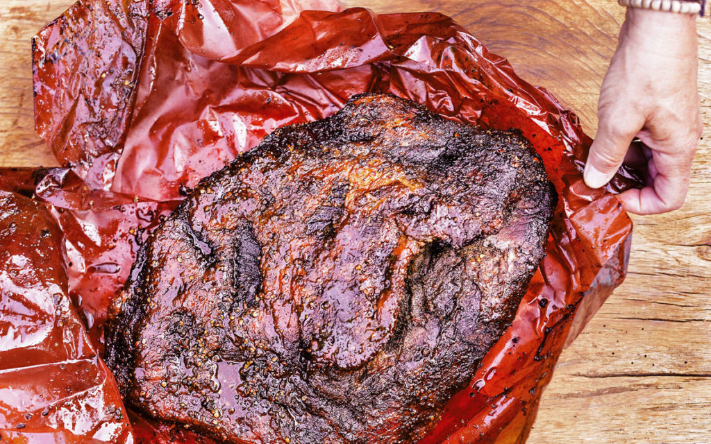 Barbecued brisket, rest