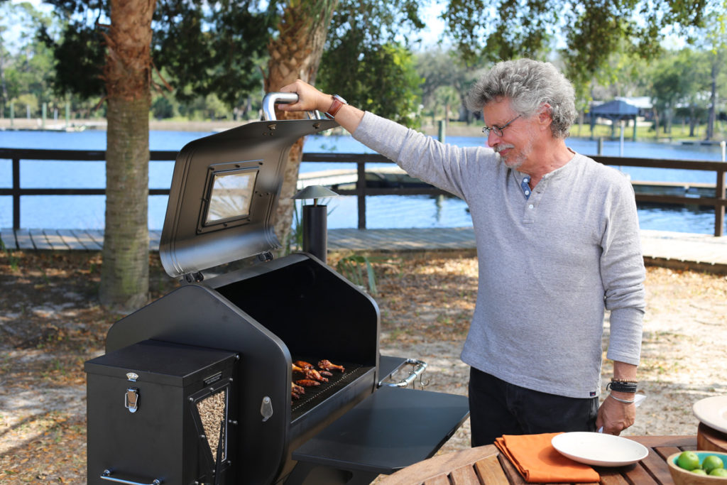 Steven Raichlen with Green Mountain Grill Pellet Grill