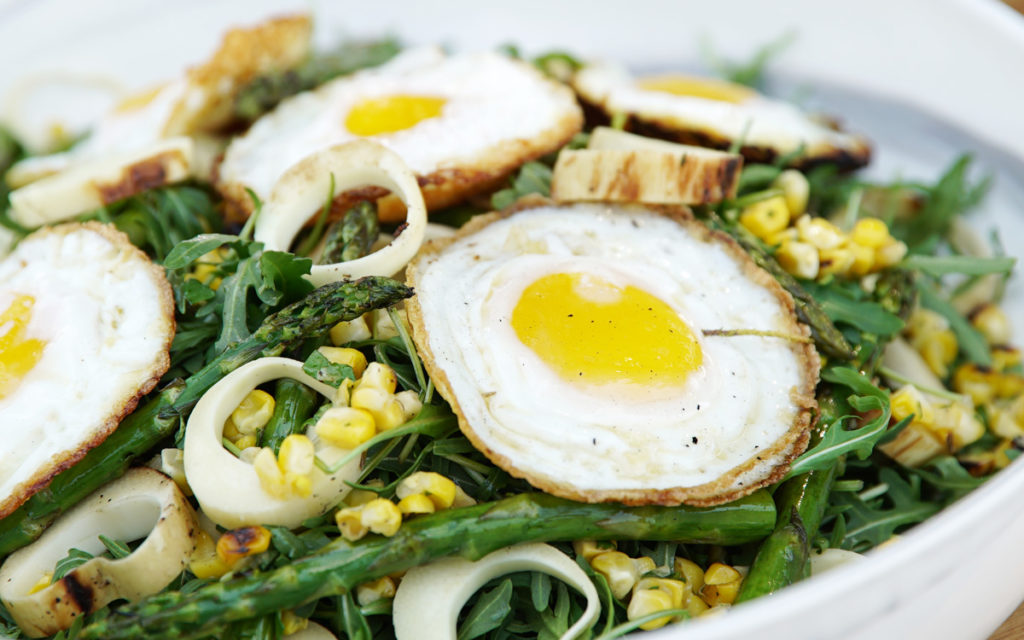"A New ""Egg Salad"" with Grilled Vegetables"