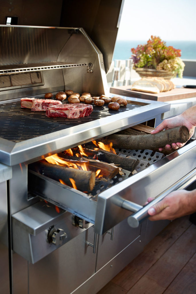 Kalamazoo - Hybrid Grill with Drawer Open