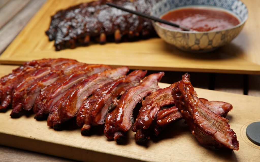 Baby Back Ribs with Guava Barbecue Sauce