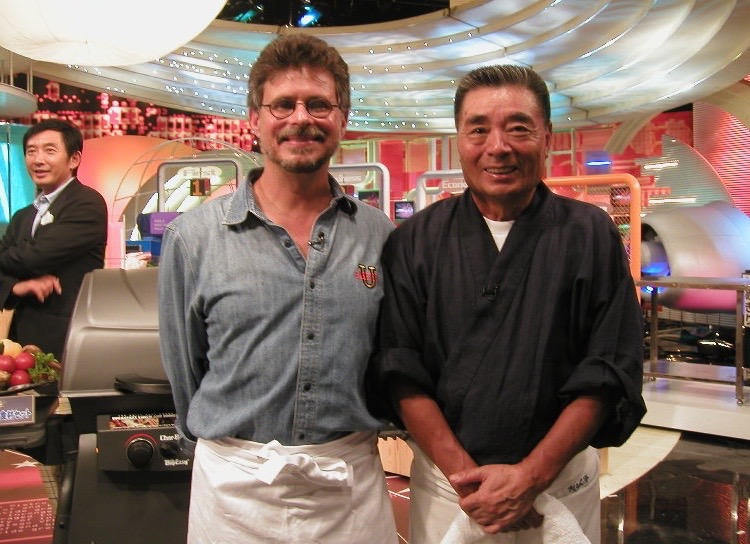 Steven Raichlen with Iron Chef Rokusbura Michiba