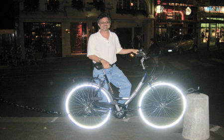 Steven Raichlen with Bicycle