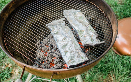 Grilling Philly Cheesesteaks in a Foil Packet