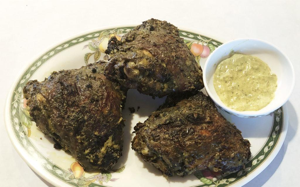 Pyanggang Chicken (Blackened Coconut Grilled Chicken)