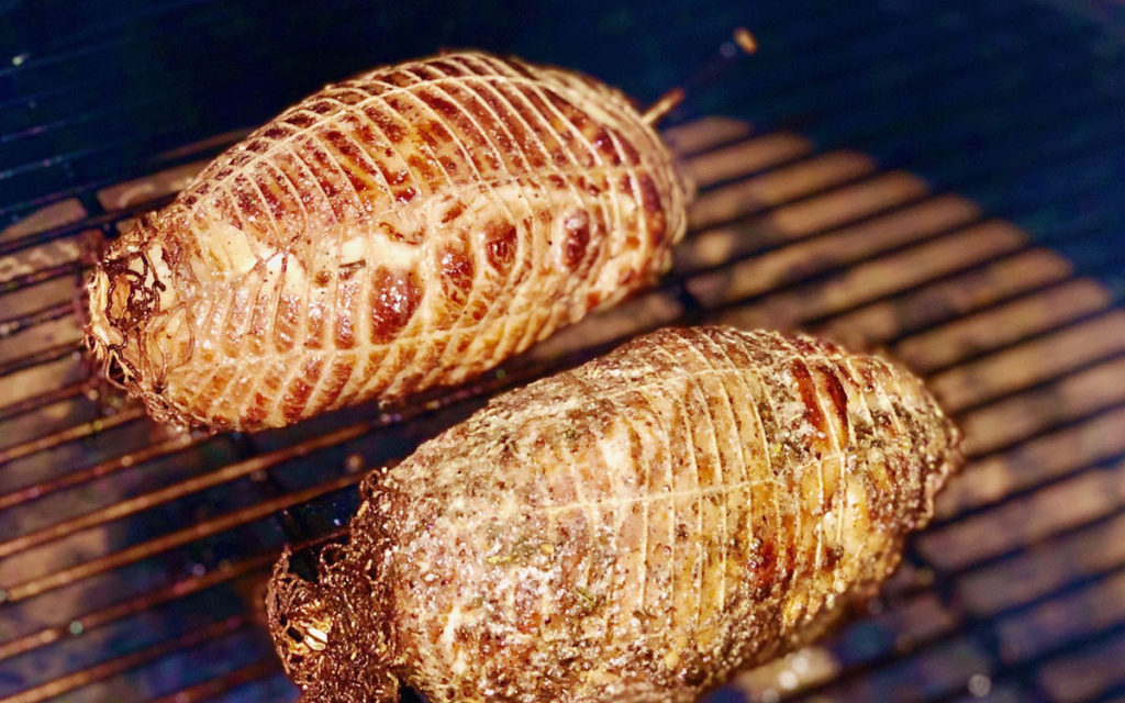 Smoke-Roasted Turkey Breasts on the Grill